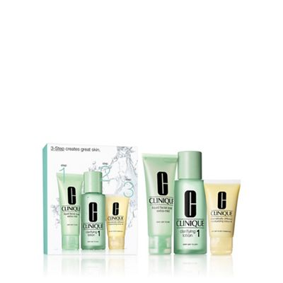 Clinique - u00273 Step Introductionu0027 skincare gift set type 1  sc 1 st  Debenhams & Clinique u00273 Step Introductionu0027 skincare gift set type 1 | Debenhams
