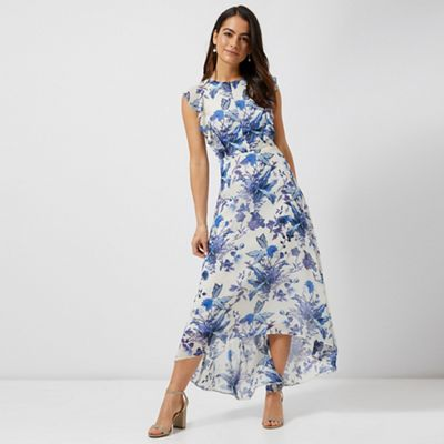 fe6a66969 Blue Floral Maxi Dress – Fashion dresses