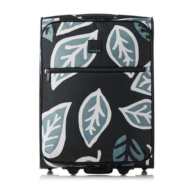 Black 'Ultra Lite Bold Leaf' Cabin 2 Wheel Case