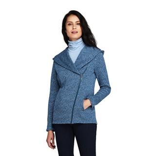 Blue plus hooded waterfall hoodie fleece