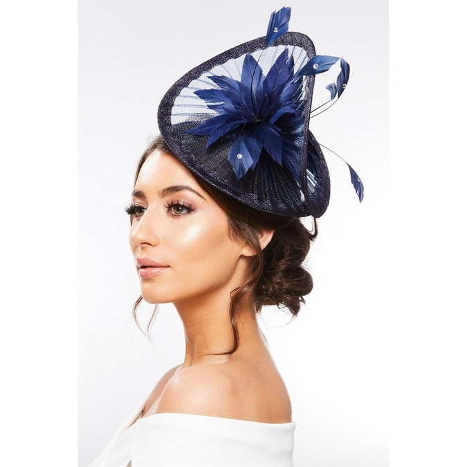 Quiz - Navy Twist Floral Headband Fascinator 0a5c4d0a4a6