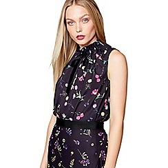 Studio by Preen - Black floral print shell top
