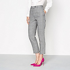 Studio by Preen - Grey checked tailored fit cropped trousers