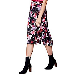 Studio by Preen - Multi-coloured floral print frill skirt