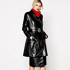 Studio by Preen - Black vinyl trench coat