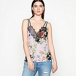 Studio by Preen - Lilac floral print V-neck camisole top