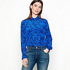 Studio by Preen - Blue floral print long sleeve shirt