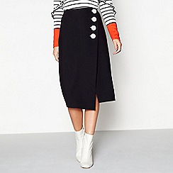 Studio by Preen - Black wrap button skirt
