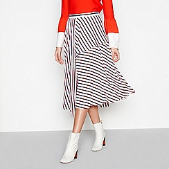 Studio by Preen - Multi stripe asymmetric skirt