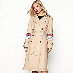 Studio by Preen - Beige stripe detail trench coat