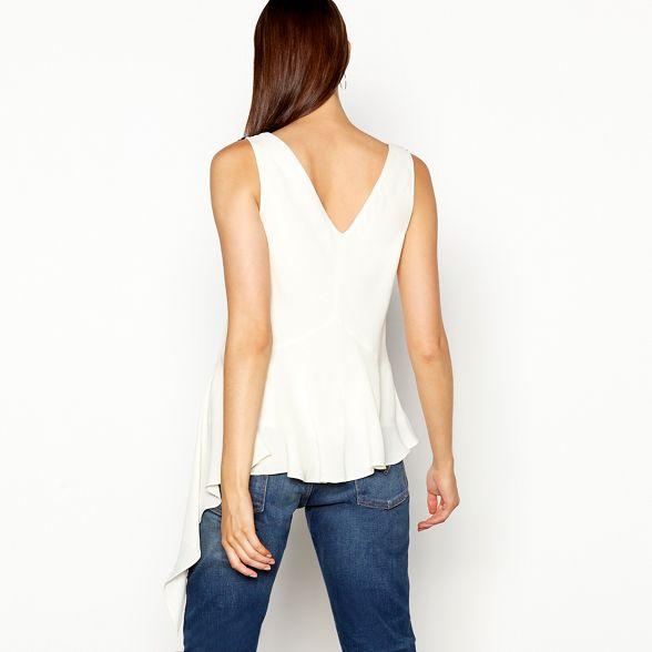 sleeveless top V Preen chiffon neck by Cream Studio lace n0xPR8w