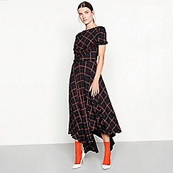 Studio by Preen - Black check print midi dress