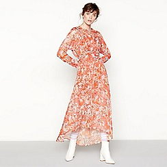 Studio by Preen - Orange floral print maxi dress