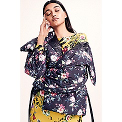 Studio by Preen - Multicoloured floral print wrap puffer coat