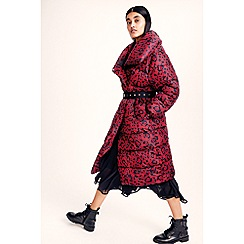 Studio by Preen - Multicoloured leopard print longline puffer coat