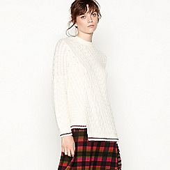 Studio by Preen - Cream cable knit oversize jumper