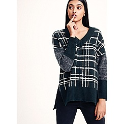 Studio by Preen - Dark green check oversize jumper