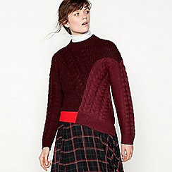 Studio by Preen - Plum cable knit cropped jumper