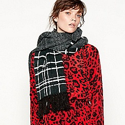Studio by Preen - Green check print oversize scarf