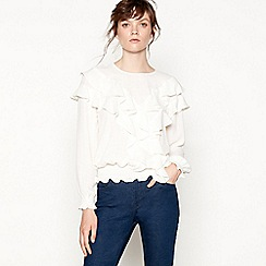 Studio by Preen - Cream ruffle 'Shearing' blouse
