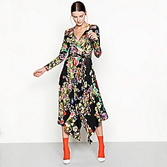 Studio by Preen - Highland floral print long sleeve wrap dress