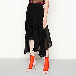 Studio by Preen - Black ruffle midi skirt