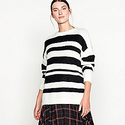 Studio by Preen - Black striped knit jumper