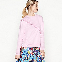 Studio by Preen - Pale Pink Asymmetric Frill Jumper