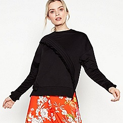 Studio by Preen - Black Asymmetric Frill Jumper
