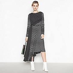 Studio by Preen - Black striped jersey maxi dress