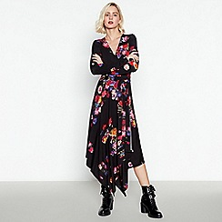 Studio by Preen - Multicoloured Floral Midi Wrap Dress