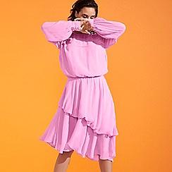 Studio by Preen - Pale Pink Pleated Knee Length Dress