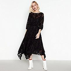 Studio by Preen - Black Checked Mesh Midi Dress