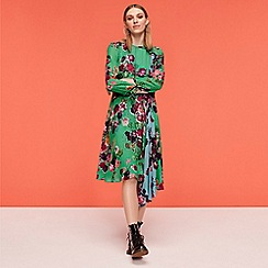 Studio by Preen - Green Floral 'Meadow' Knee Length Skater Dress