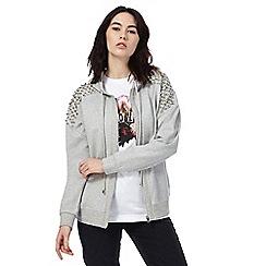 Todd Lynn/EDITION - Grey studded zip through hoodie