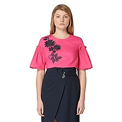 Studio by Preen - Bright pink floral embroidered top