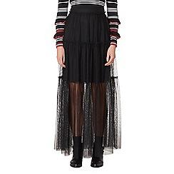 Studio by Preen - Black mesh maxi skirt