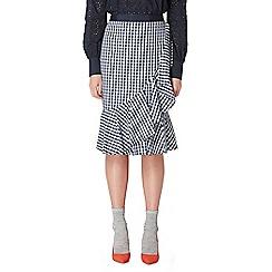 Studio by Preen - Navy gingham print frill skirt