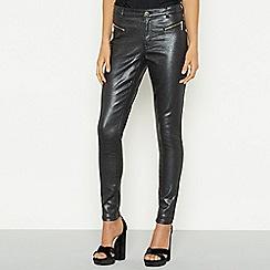 Star by Julien Macdonald - Black glitter snake print skinny jeans