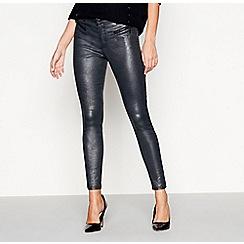 Star by Julien Macdonald - Silver snakeskin-effect skinny jeans