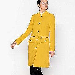 Star by Julien Macdonald - Yellow longline popper trim coat