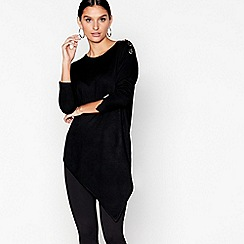 Star by Julien Macdonald - Black eyelet asymmetric jumper