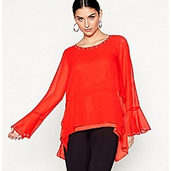 Star by Julien Macdonald - Red long sleeved studded top
