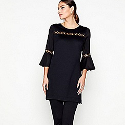Star by Julien Macdonald - Black eyelet detail ponte top
