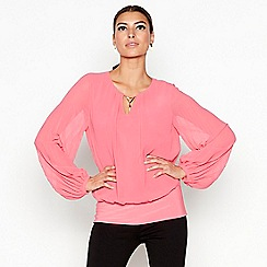 Star by Julien Macdonald - Dark pink pleat sleeve top