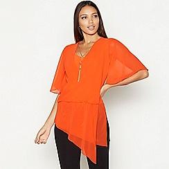c8eb7443f04c5 Star by Julien Macdonald - Orange necklace detail chiffon short sleeve wrap  top