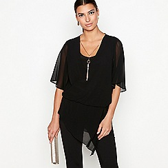 Star by Julien Macdonald - Black drape front top