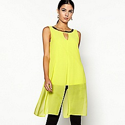 Star by Julien Macdonald - Yellow sleeveless longline top