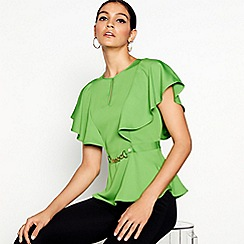 Star by Julien Macdonald - Green angel sleeve top