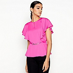 Star by Julien Macdonald - Bright pink angel sleeve top